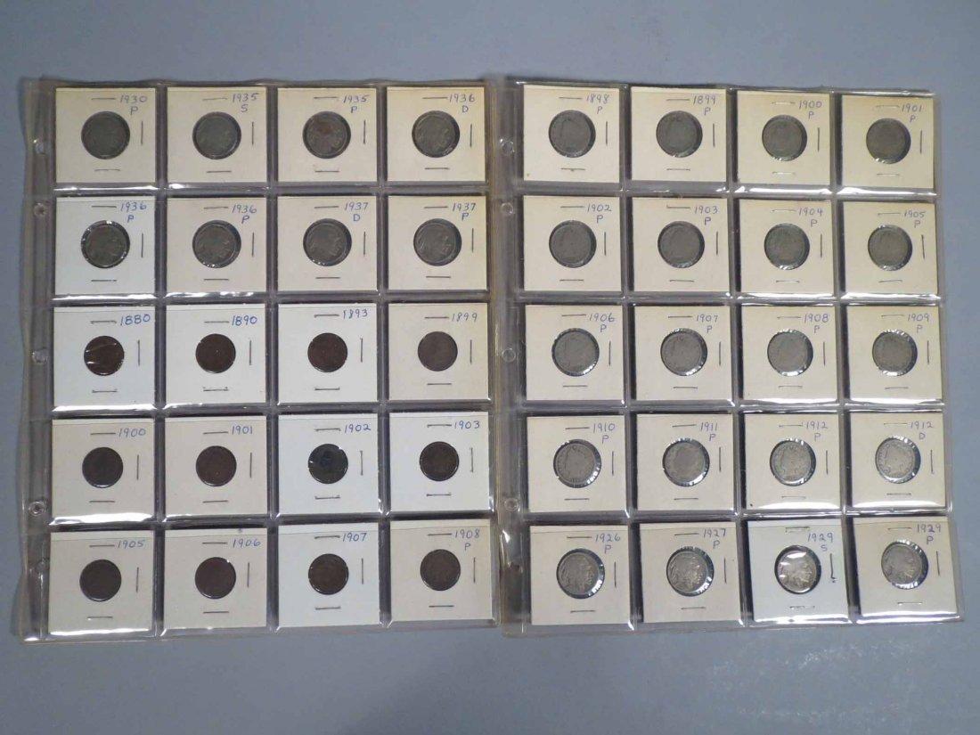 Lot of V Nickel, Buffalo Nickel, Indian cent Carded