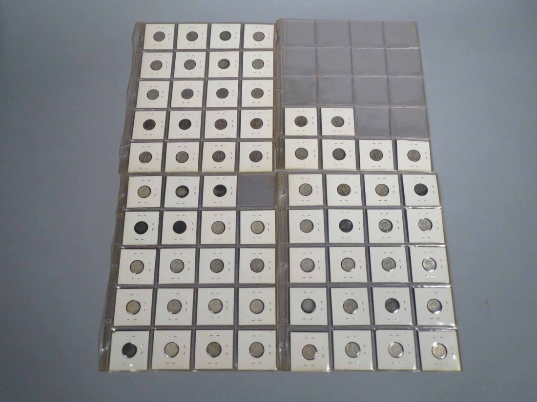 Lot of 66 Silver Dimes Carded - 2