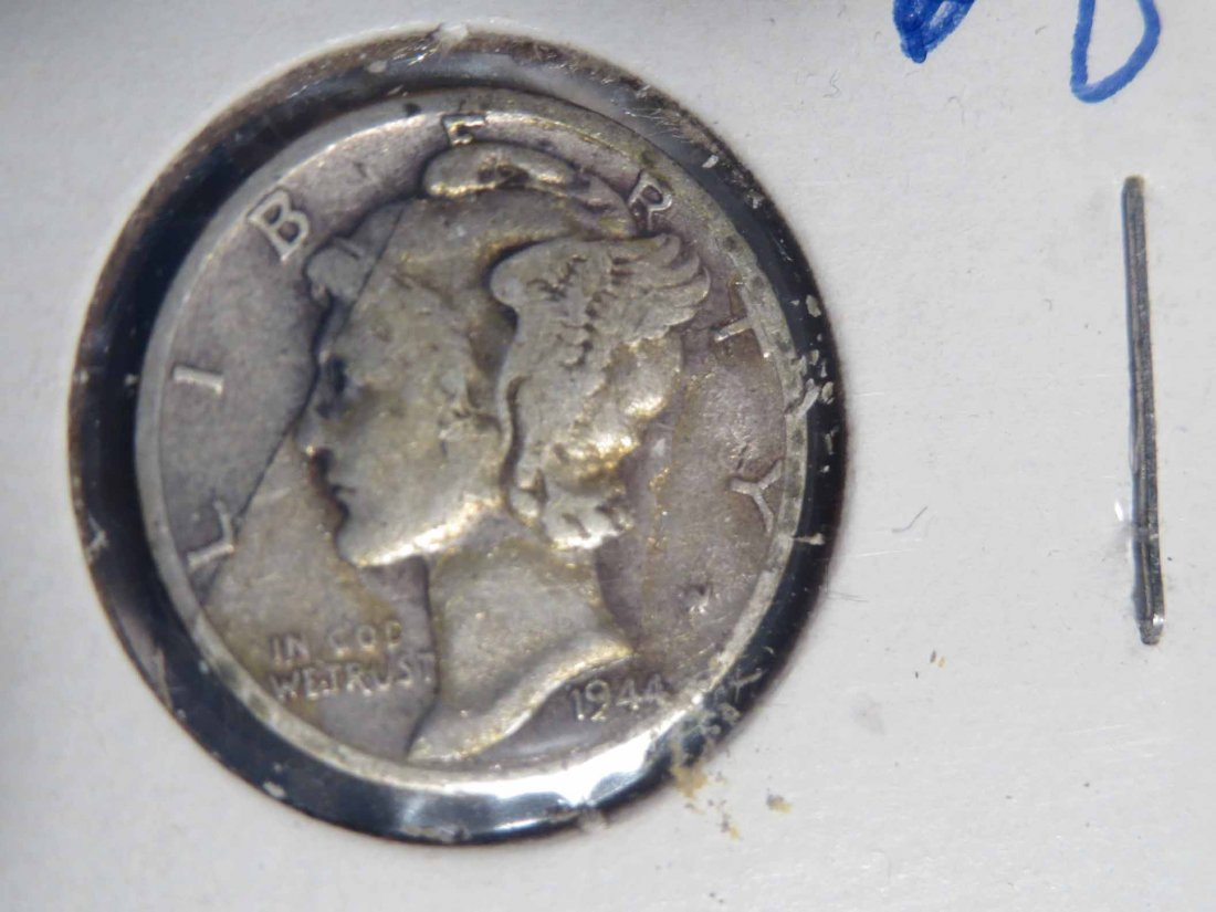 Lot of 66 Silver Dimes Carded - 5