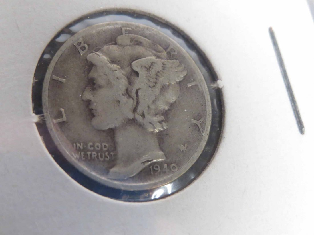 Lot of 66 Silver Dimes Carded - 6