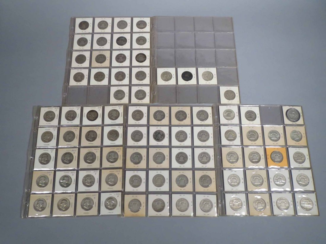 Lot of 81 Silver Half Dollar Carded - 10