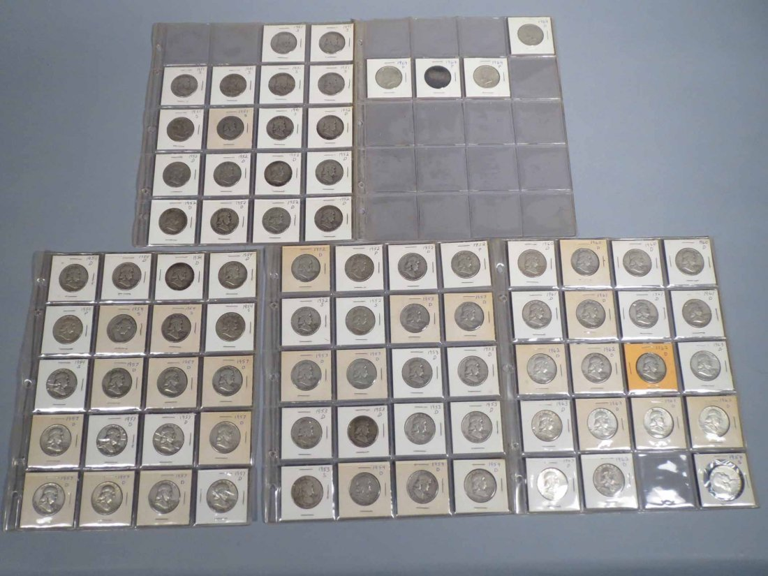 Lot of 81 Silver Half Dollar Carded - 9