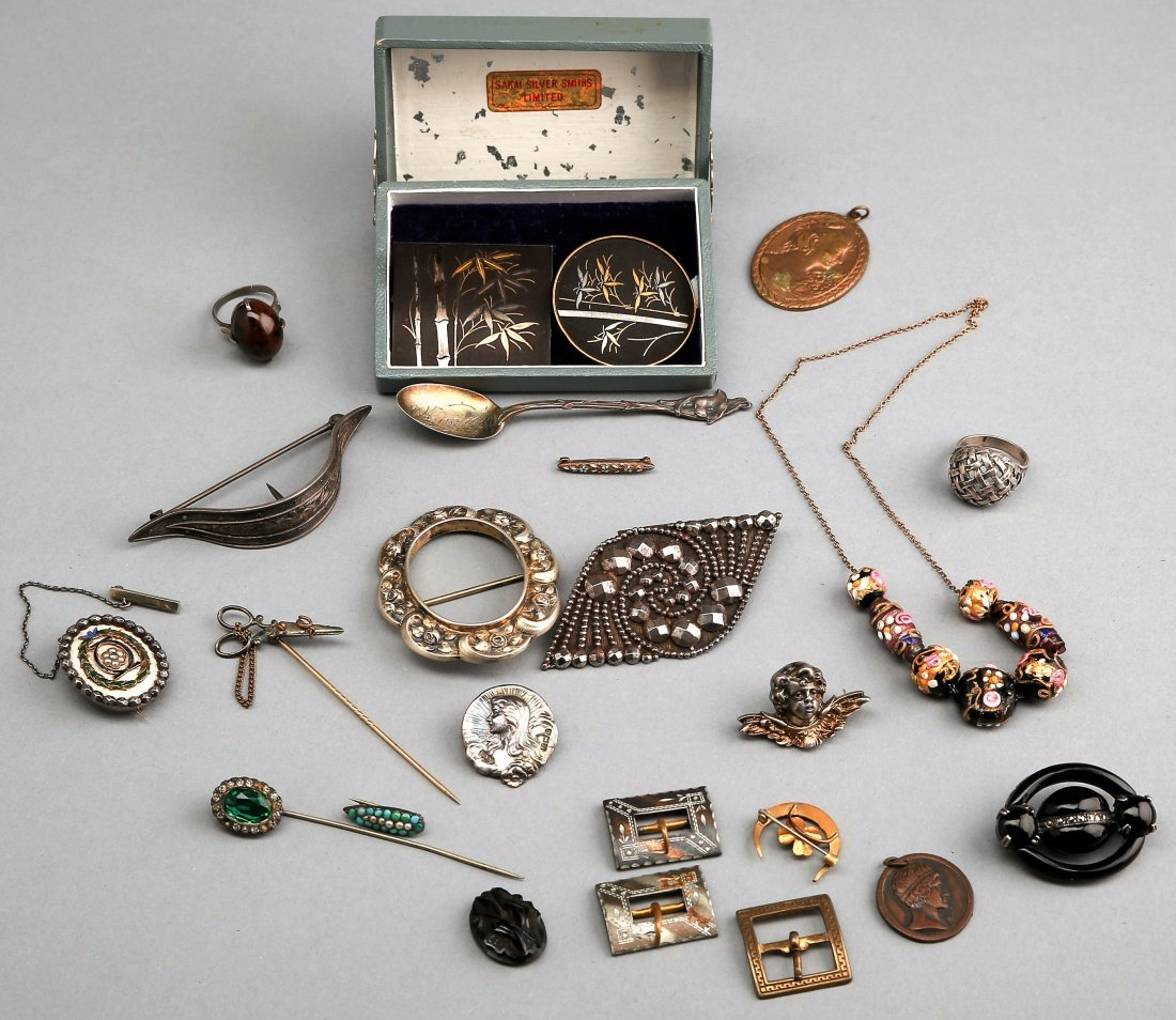 Lot Of Costume Jewelry Including Sterling