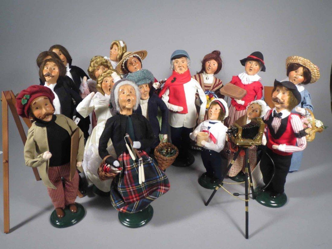 Lot 12 Of  Byers Choice Ltd. The Carolers Dolls