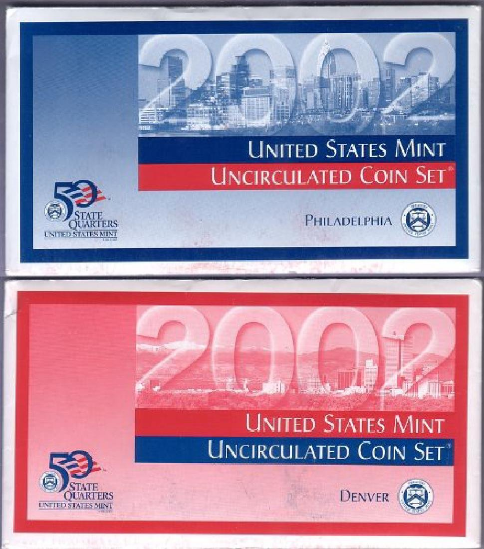2002 P & D Mint Set in Original U.S. Government - 3