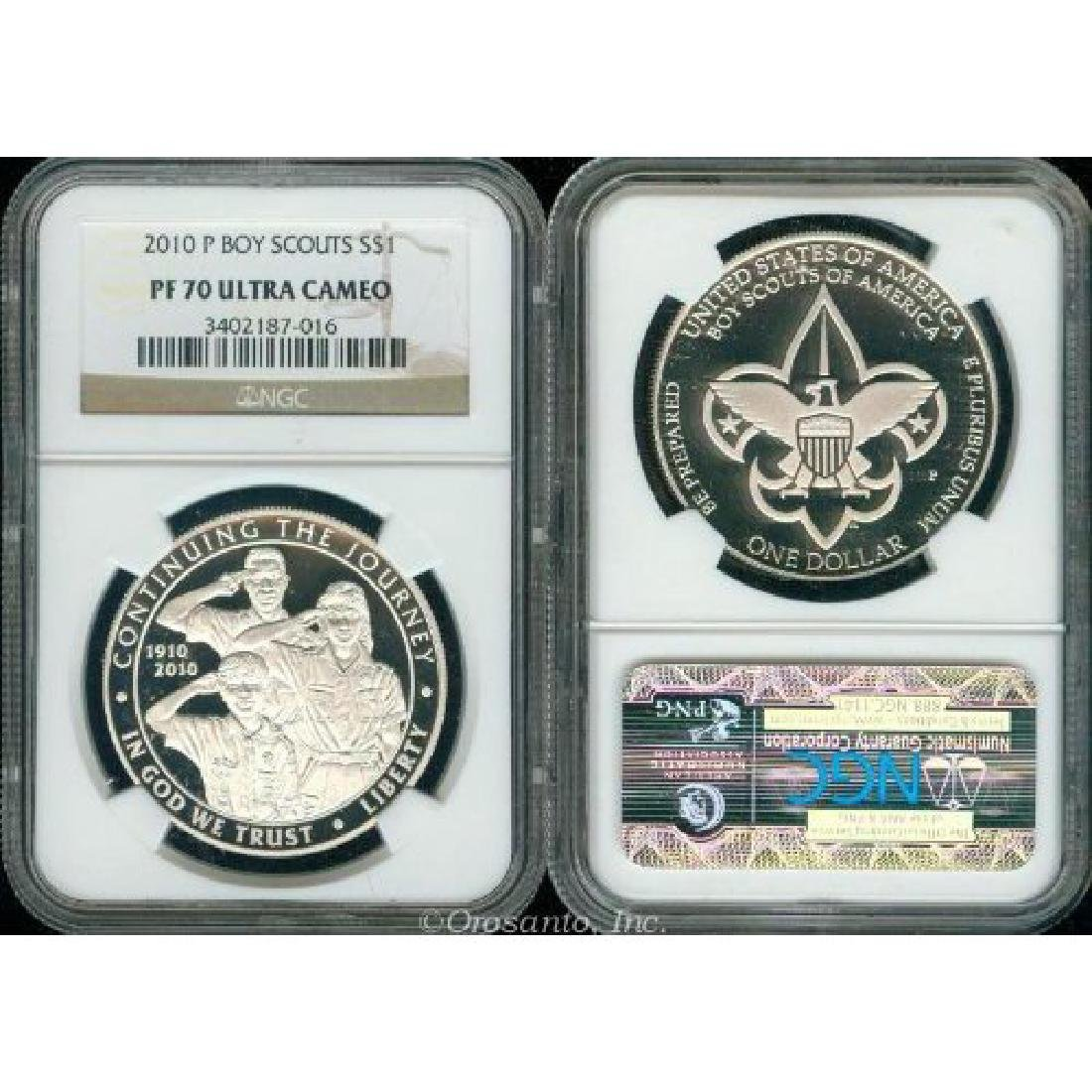 2010 Boy Scouts Of America Proof Silver Dollar NGC