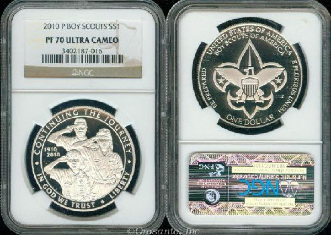 2010 Boy Scouts Of America Proof Silver Dollar NGC - 2