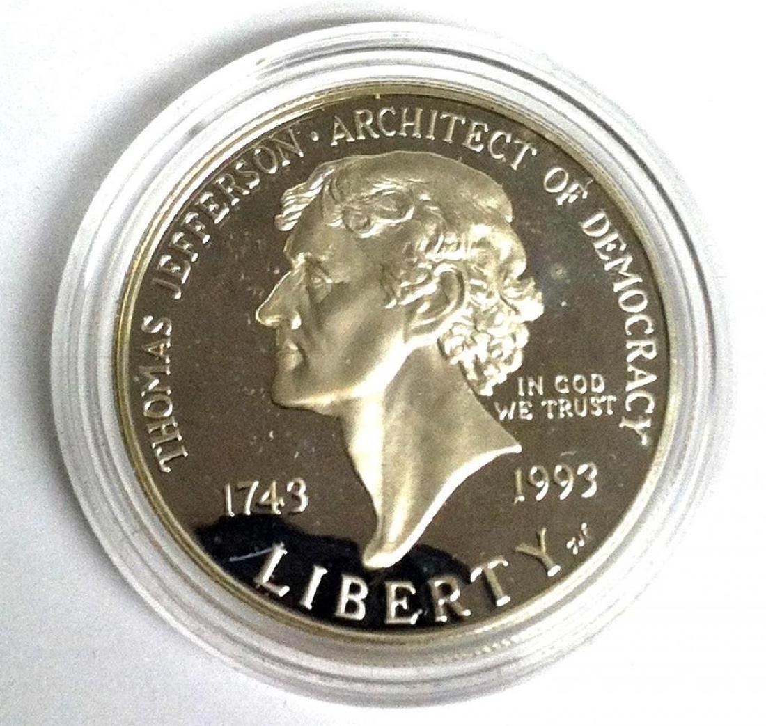 1993 Proof Thomas Jefferson 250th Anniversary Silver