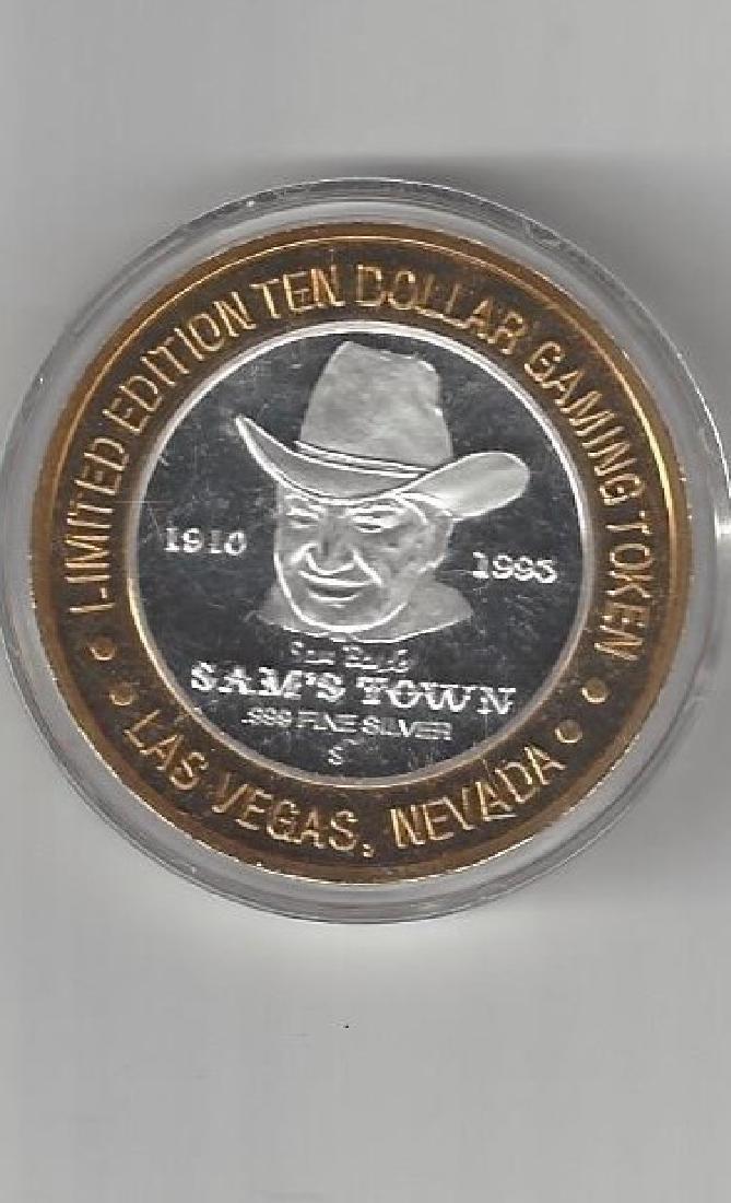 TEN DOLLAR SILVER SAM'S TOWN GAMING TOKEN