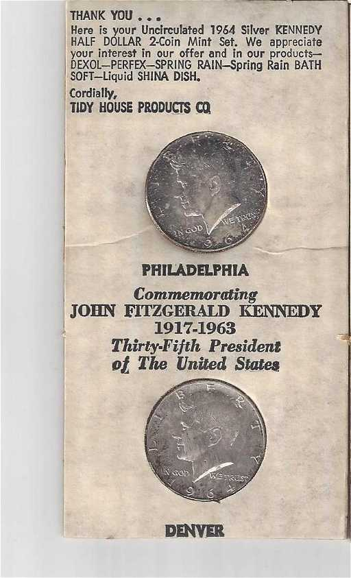 COIN Silver 1964 D KENNEDY Half Dollar Products Half dollar