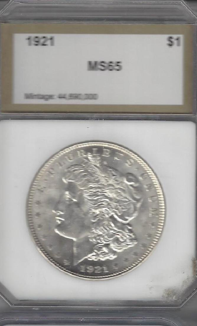 1921 MORGAN SILVER DOLLAR MS-65