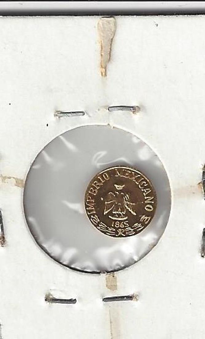 1865 MEXICO GOLD PESO FANTASY UNC - 2