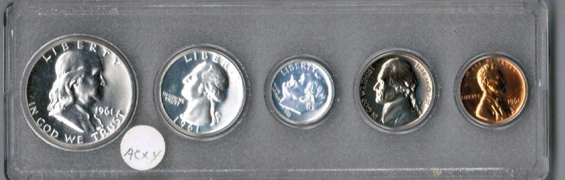 1961 U.S. PROOF SET IN PLASTIC CASE