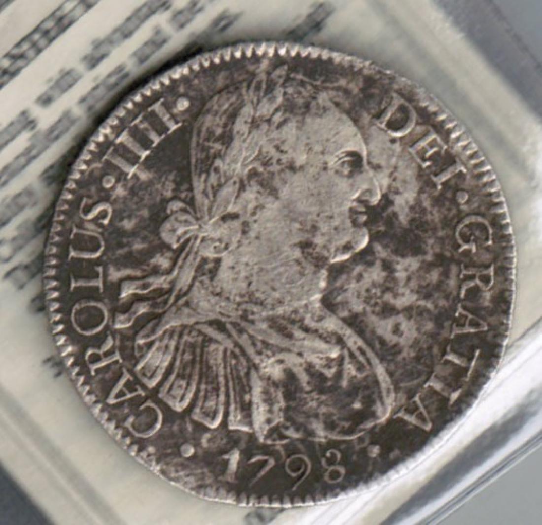 1798 SPANISH CAROLUS 8 REALES CERT SHIPWRECK