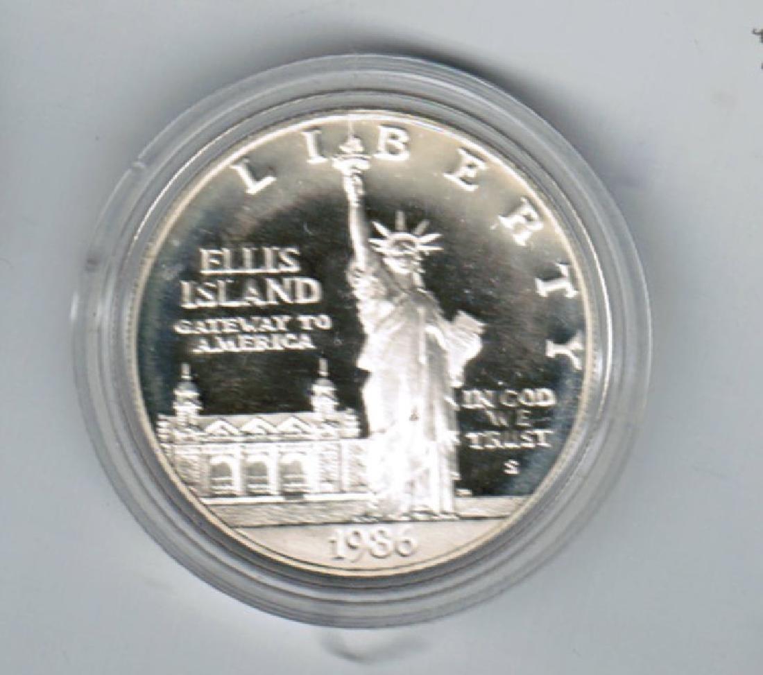 1986 ELLIS ISLAND SILVER DOLLAR PF