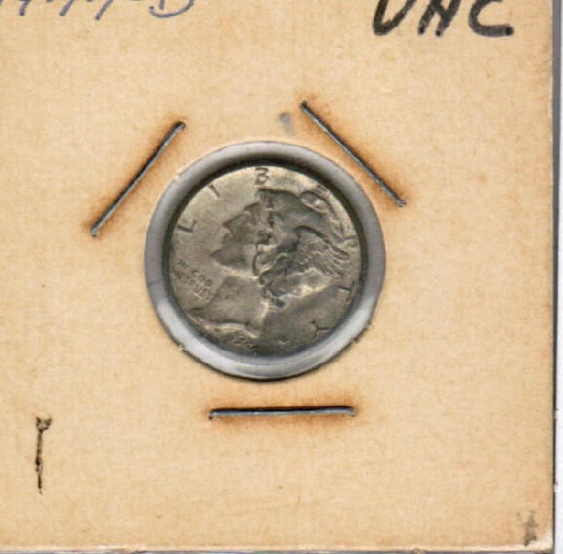 1944-D MERCURY DIME UNC