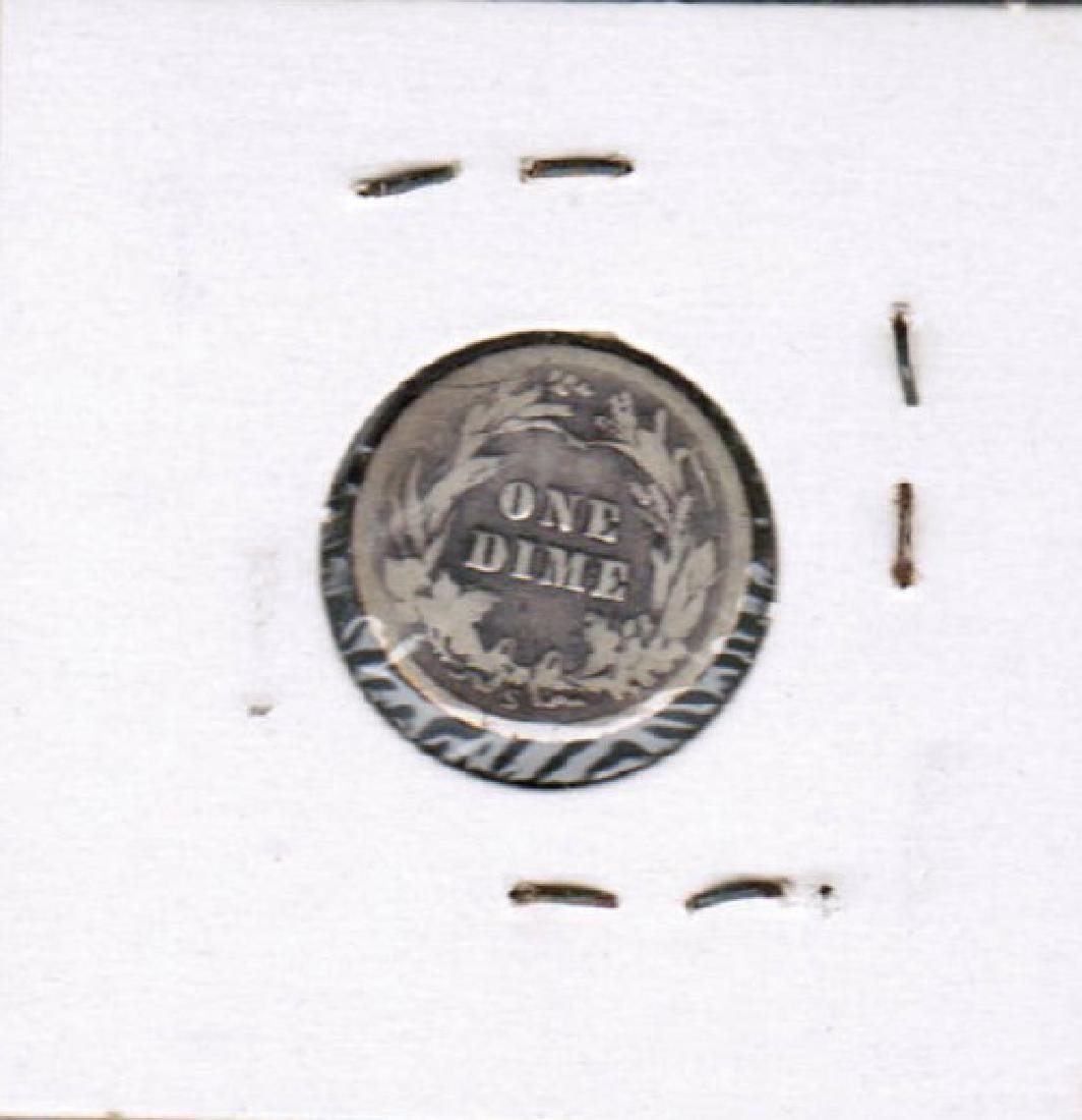 1916-S BARBER DIME SILVER VG - 2
