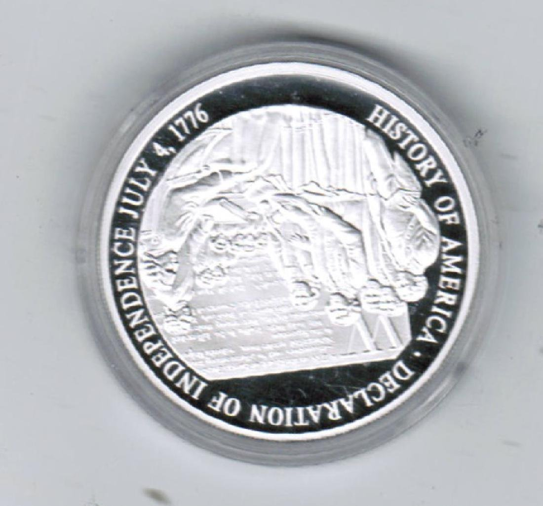 1776 DECLARATION INDEPENDENCE SILVER COIN PF - 2