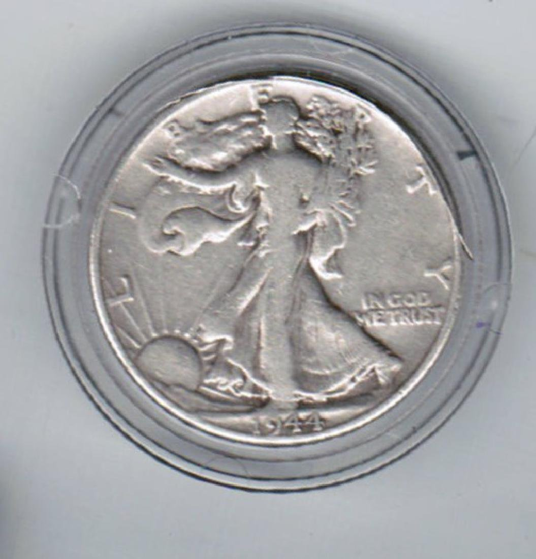 1944 WALKING LIBERTY SILVER HALF XF-AU