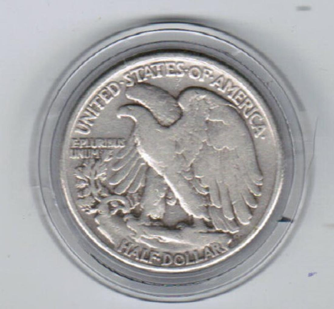1944 WALKING LIBERTY SILVER HALF XF-AU - 2