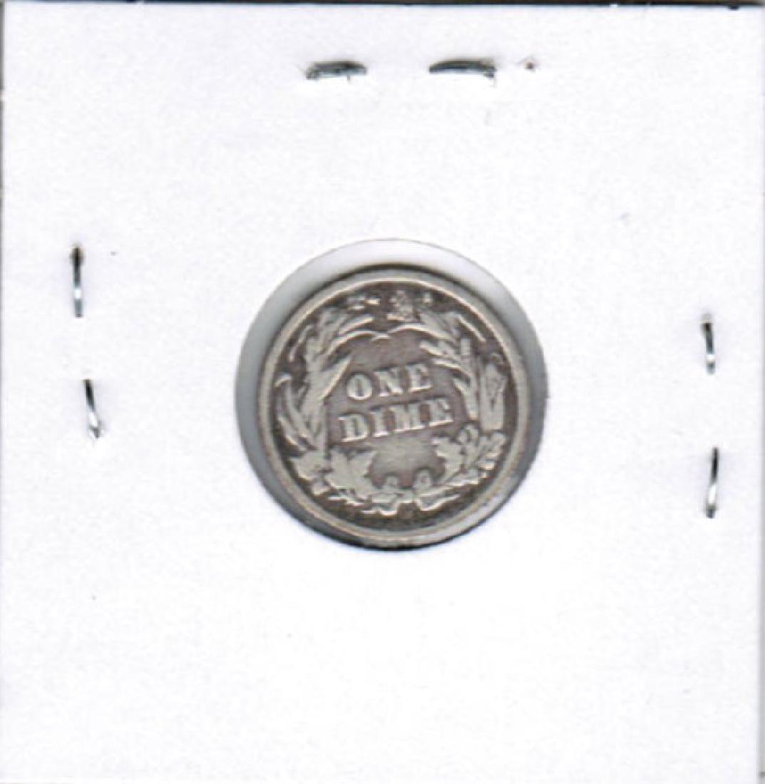 1892 BARBER DIME SILVER FINE - 2