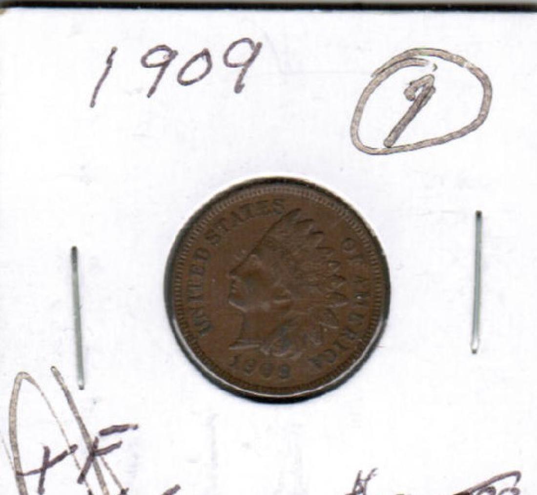 1909 INDIAN HEAD PENNY XF