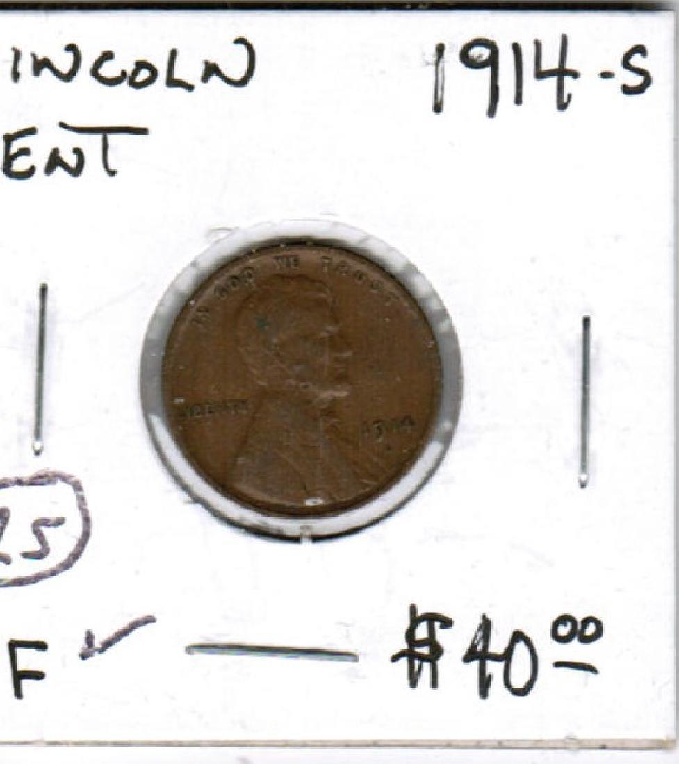 1914-S LINCOLN CENT X-FINE COND
