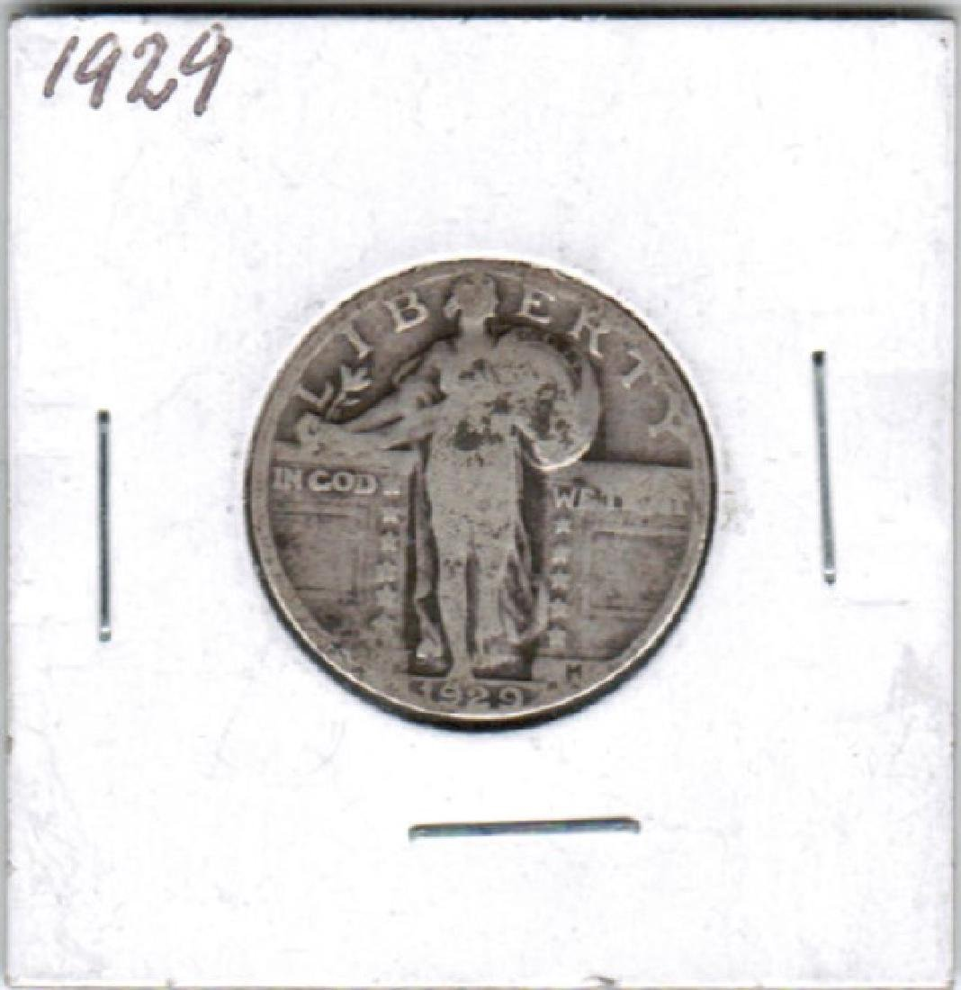 1929 STANDING LIBERTY QUARTER VF