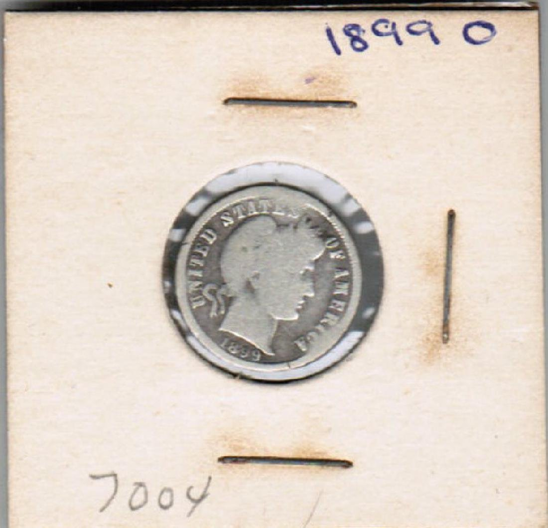 1899-0 BARBER DIME VG-F CONDITION