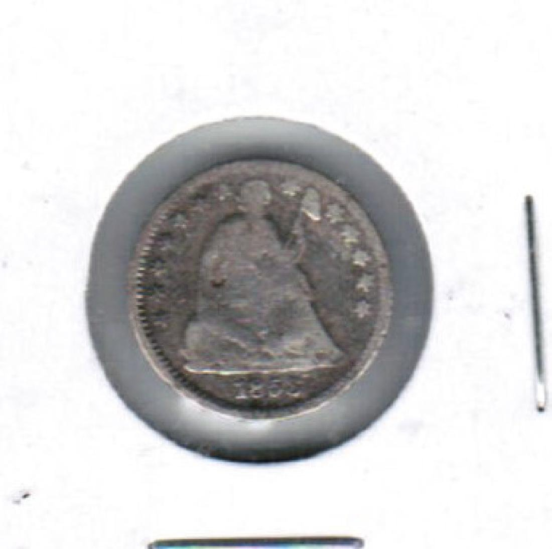 1853 SEATED LIBERTY HALF DIME FINE