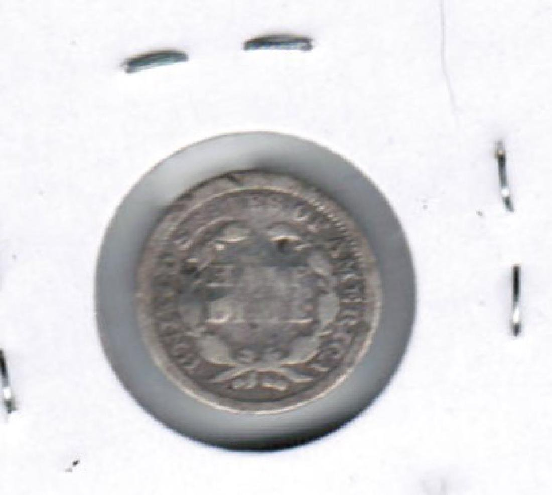 1853 SEATED LIBERTY HALF DIME FINE - 2
