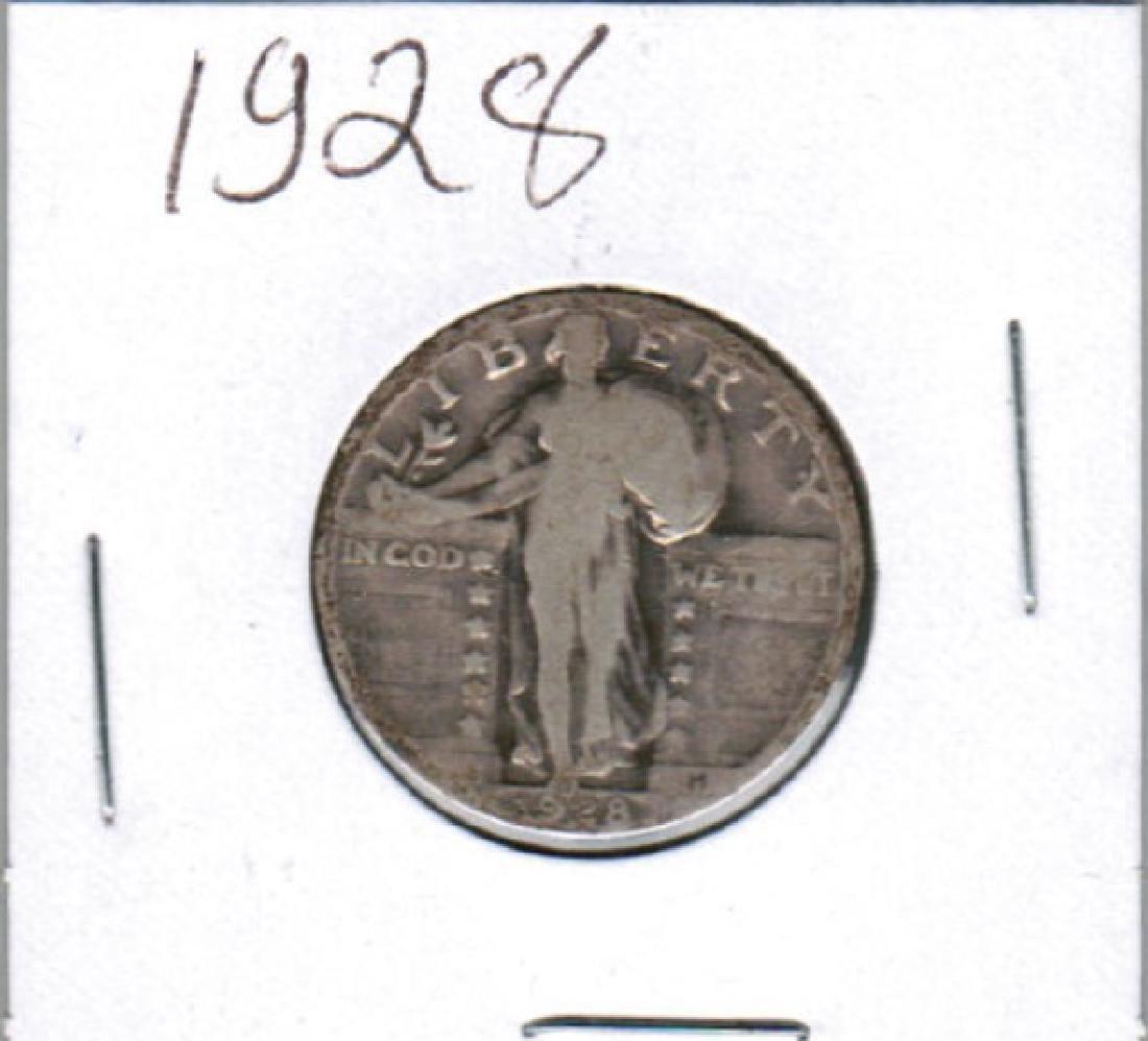 1928 STANDING LIBERTY QUARTER FINE