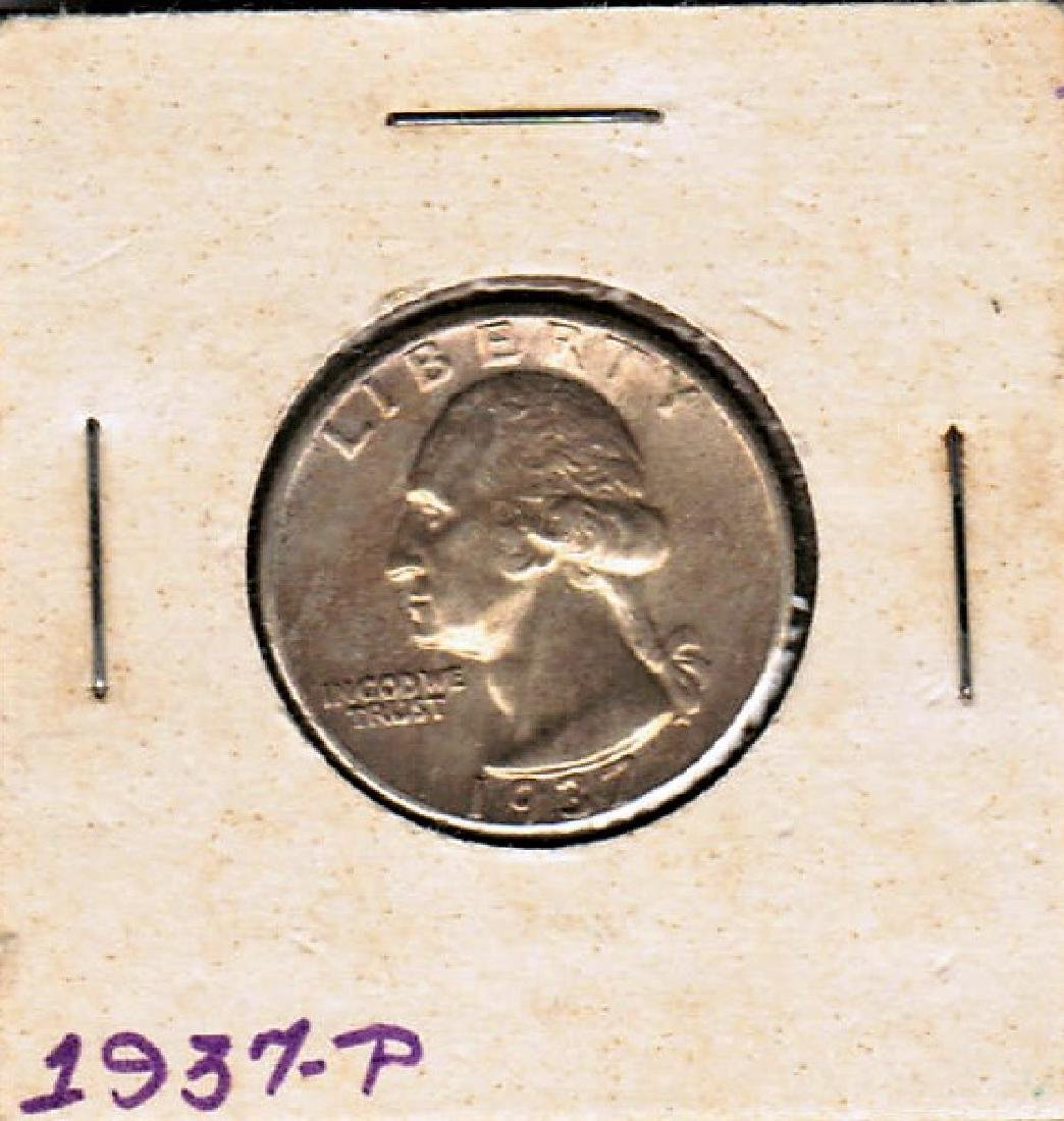 1937-P WASHINGTON QUARTER BU