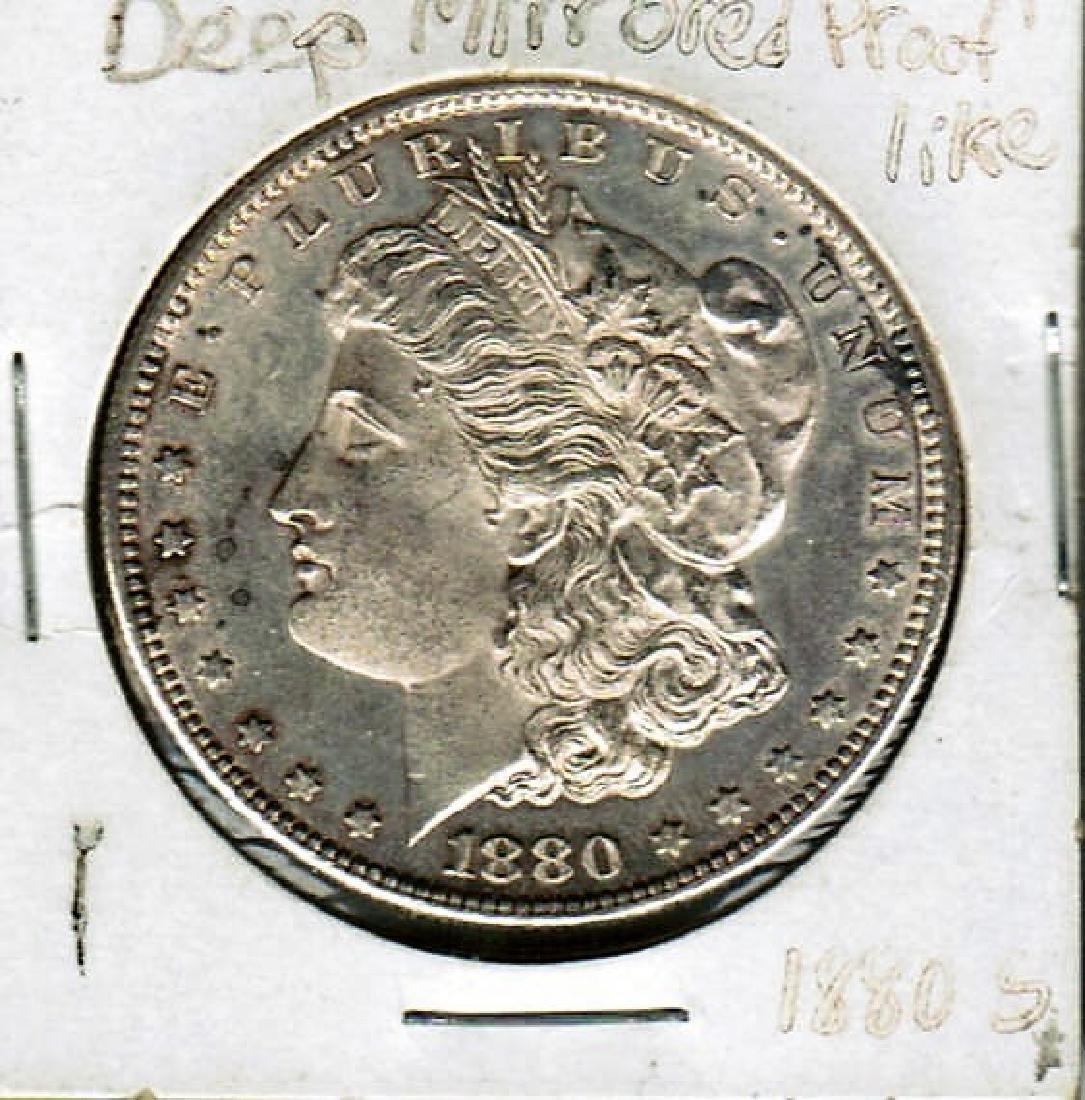 1880-S MORGAN SILVER DOLLAR DEEP MINT LIKE PF