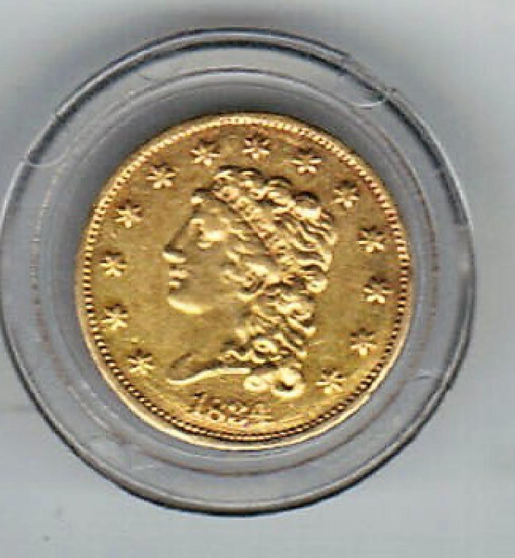 1834 $2.50 GOLD CLASSIC HEAD COIN UNC