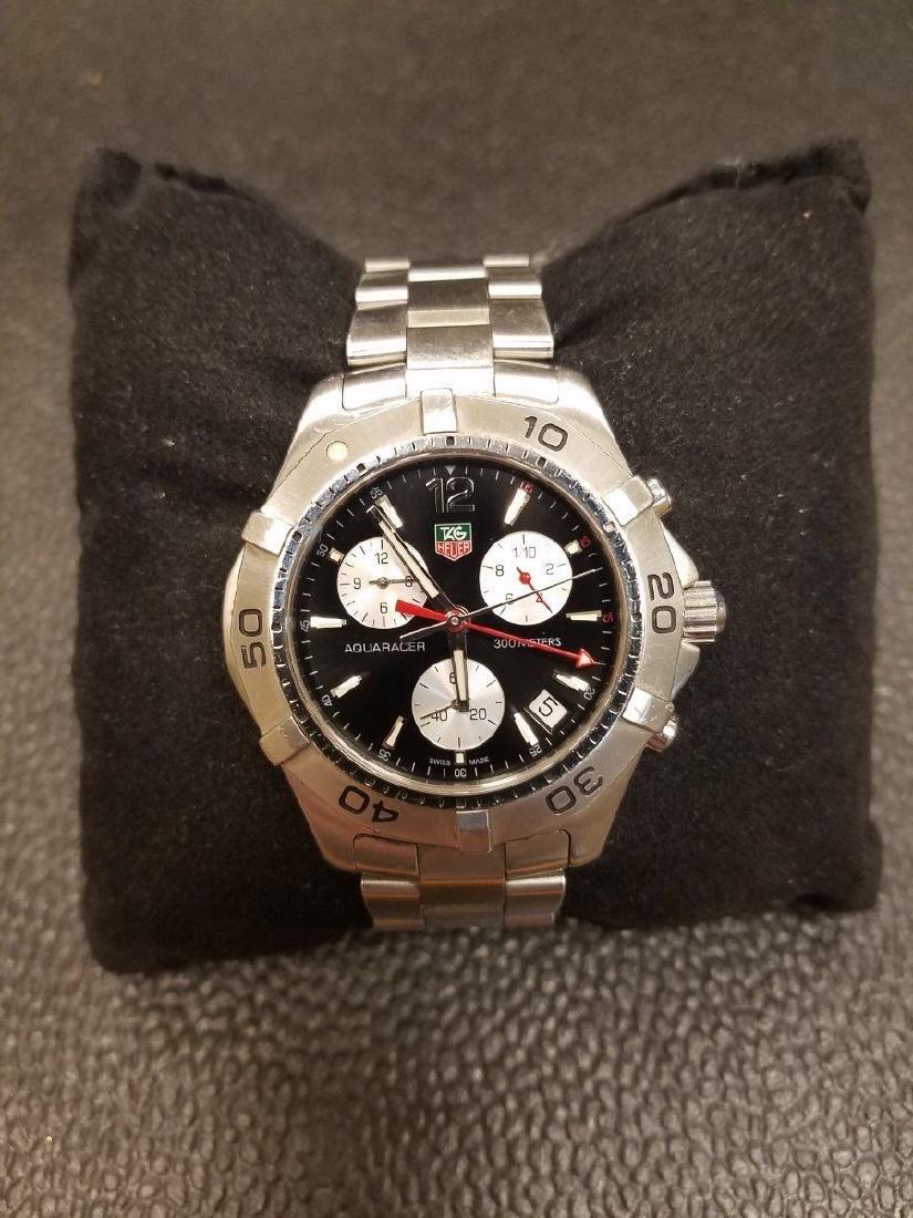 Men's Tag Heuer  300M Aquaracer Chrono Blk Dial Watch