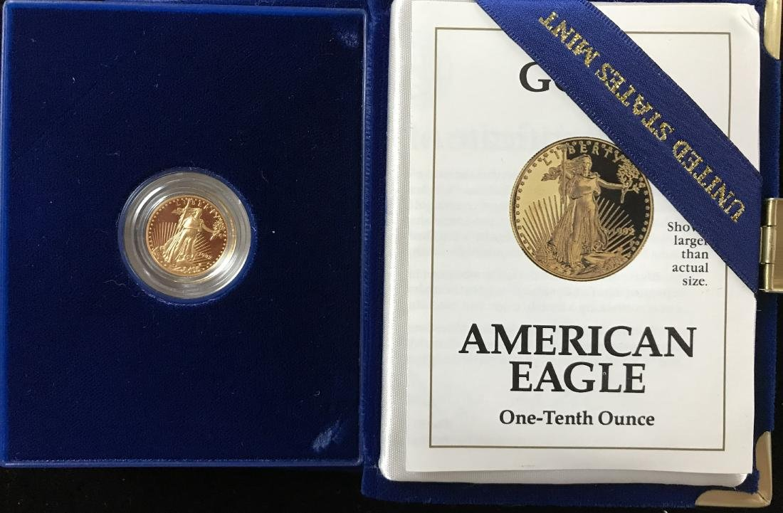 1992-P $5 American Gold Eagle Proof 1/10 oz