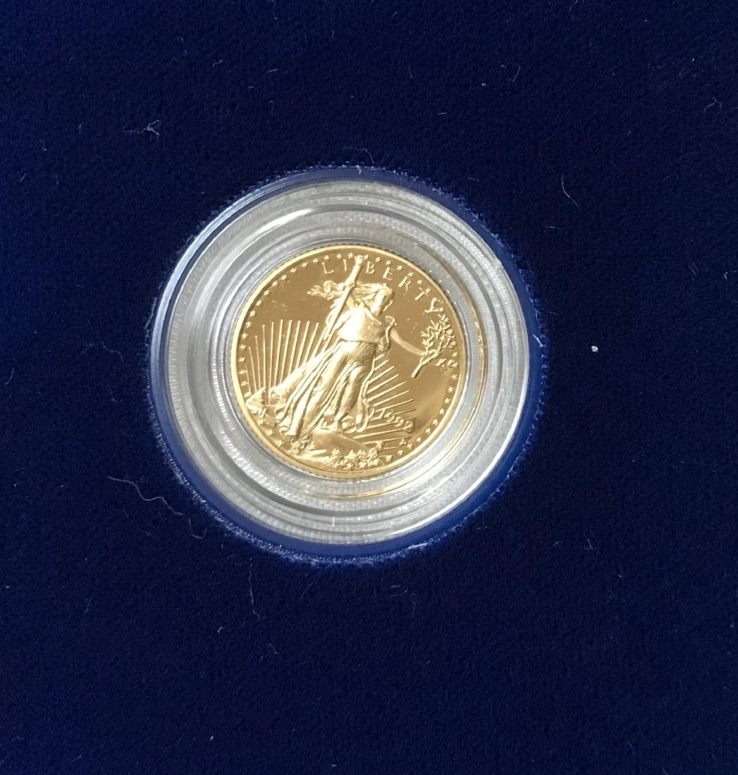 1992-P $5 American Gold Eagle Proof 1/10 oz - 2