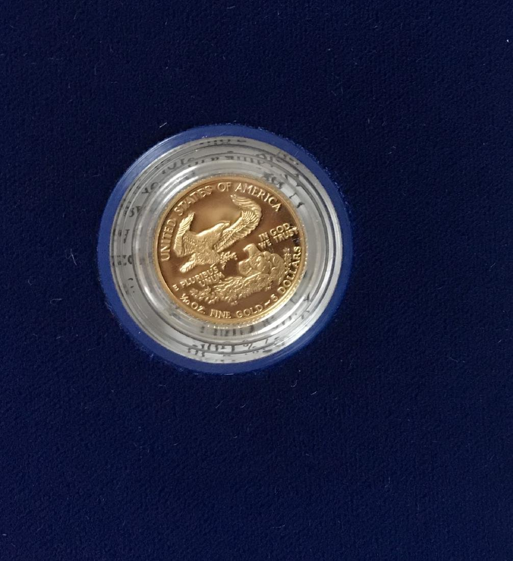 1992-P $5 American Gold Eagle Proof 1/10 oz - 3
