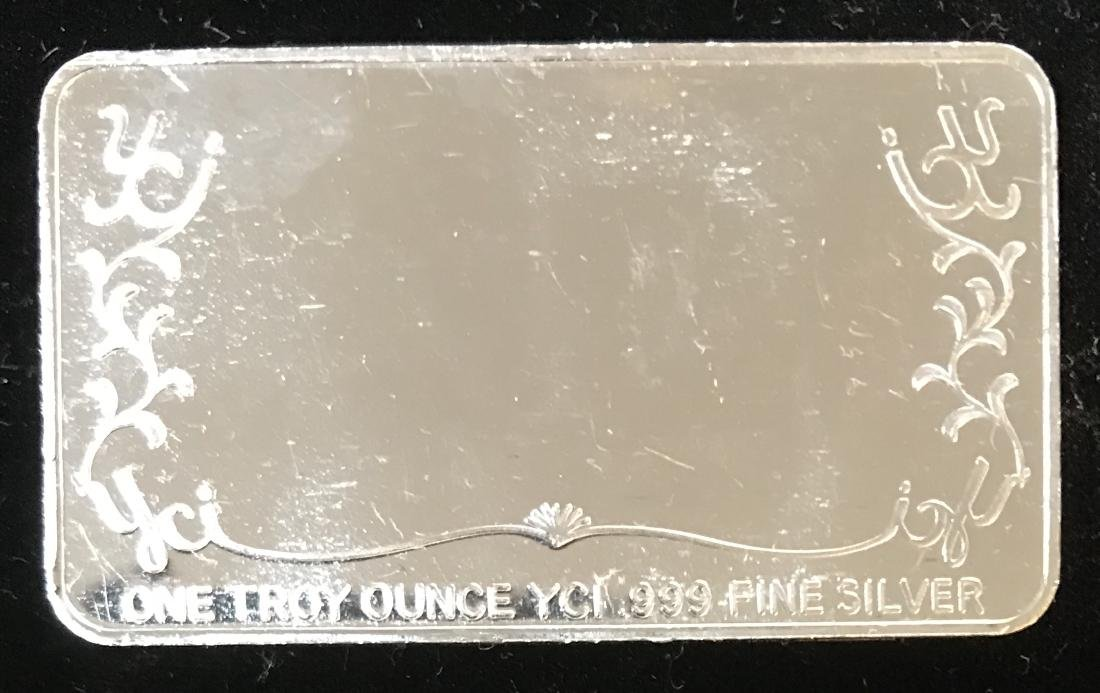 1987 HAPPY HOLIDAYS SILVER BAR 1 OZ .999 FINE SILVER - 2