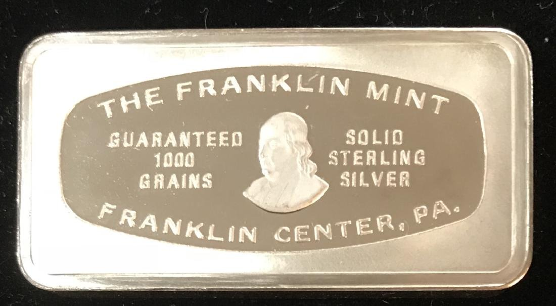 1976 Christmas 1000 grains Solid Sterling Silver Bar - 2