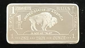 German Mint 1 tr oz Buffalo German .999 Silver Bullion