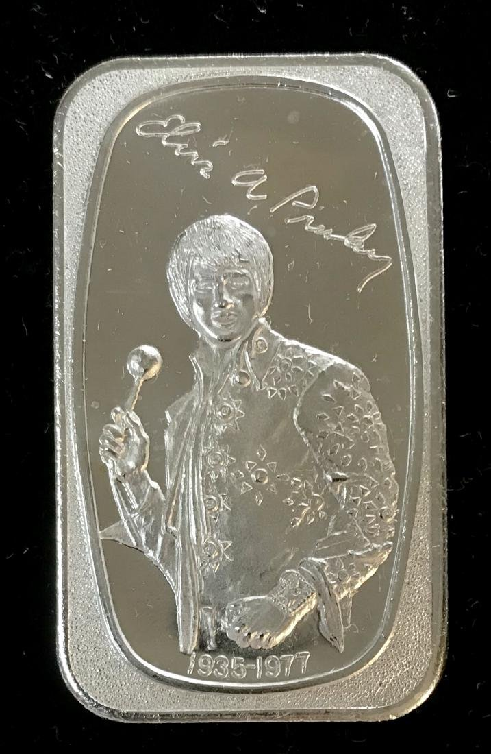 1983 Elvis Presley  1 oz .999 Fine Silver Art Bar