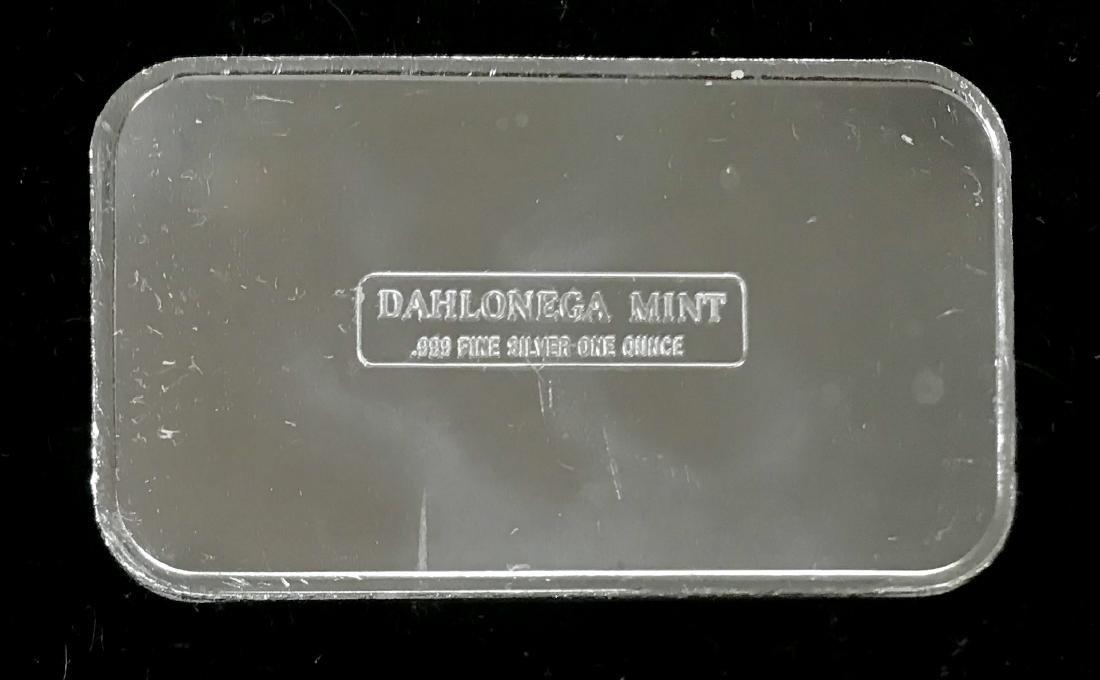 1983 Elvis Presley  1 oz .999 Fine Silver Art Bar - 2