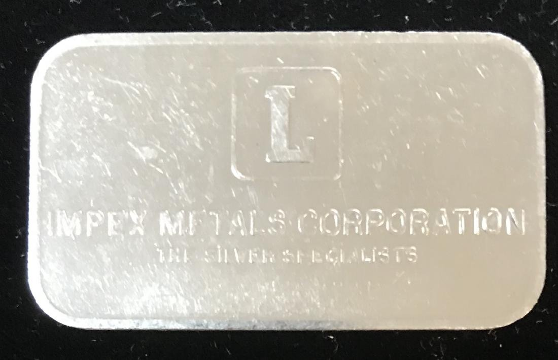 IMPEX 1 tr oz .999 Fine Silver Art Bar