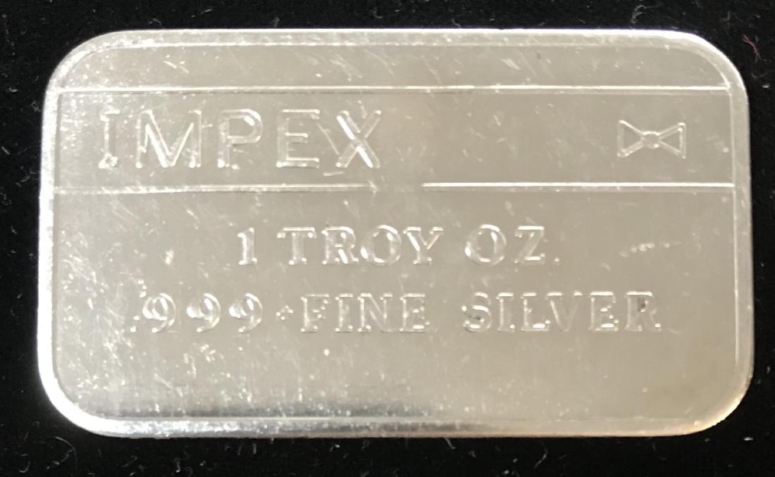 IMPEX 1 tr oz .999 Fine Silver Art Bar - 2