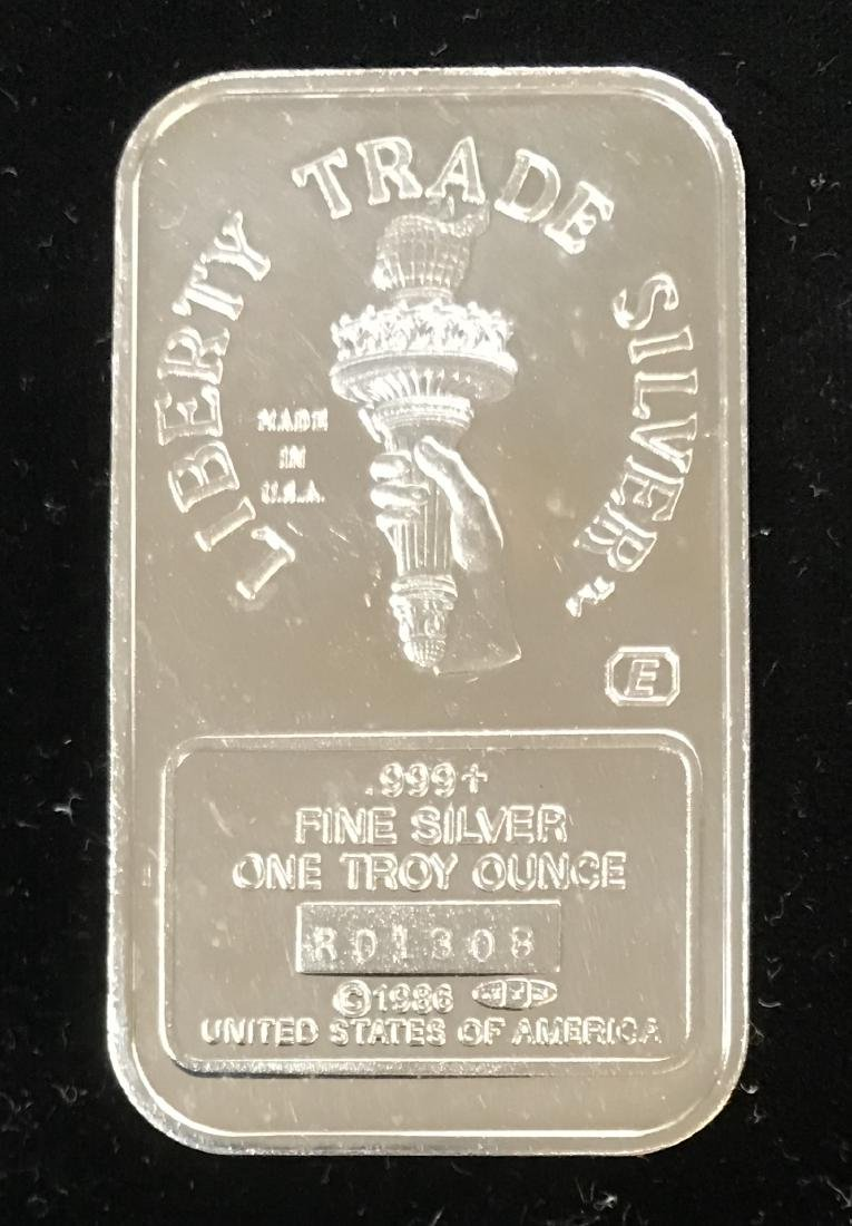 1986 Statue of Liberty ENGELHARD / MTB 1 tr oz .999 - 2
