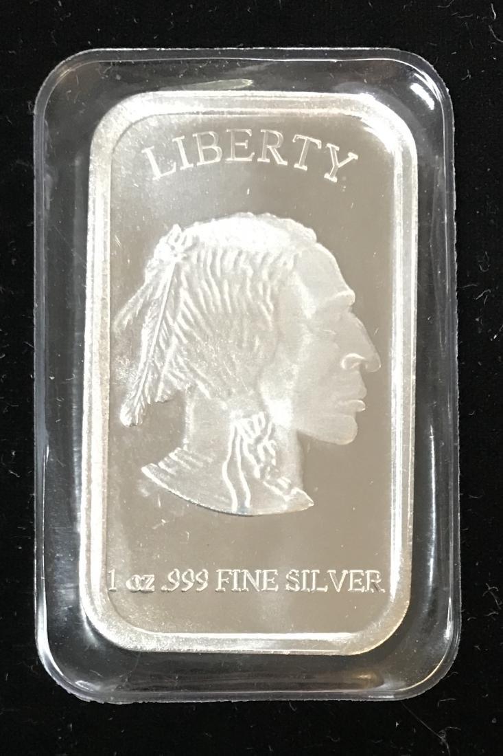 Liberty Buffalo Indian Head 1 oz .999 Fine Silver Bar