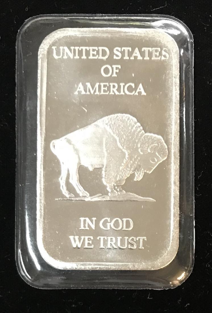 Liberty Buffalo Indian Head 1 oz .999 Fine Silver Bar - 2