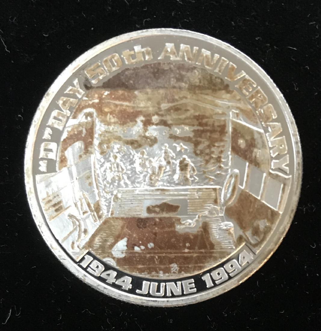 """""""D""""Day 50th Anniversary 1944 June 1994 1 tr oz .999"""